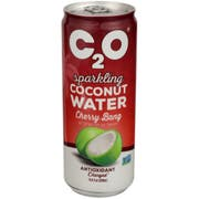 C2O Cherry Bang Sparkling Coconut Water, 10.8 Fluid Ounce -- 12 per case
