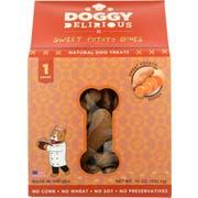 Doggie Delirious Sweet Potato Bones Dog Treats, 16 Ounce -- 6 per case