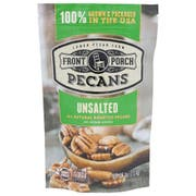 Front Porch All Natural Unsalted Roasted Pecan, 4 Ounce -- 6 per case