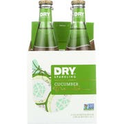 Dry Cucumber Sparkling Soda, 4 count per pack -- 6 per case