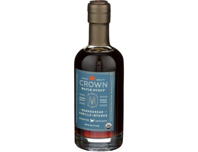 Crown Maple Madagascar Vanilla Maple Syrup, 8.5 Fluid Ounce -- 8 per case
