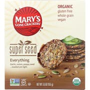 Marys Gone Crackers Organic Super Seed Everything Cracker, 5.5 Ounce -- 6 per case