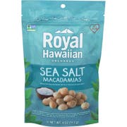 Royal Hawaiian Orchards Sea Salt Macadamia Nut, 4 Ounce -- 6 per case