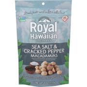Royal Hawaiian Orchards Sea Salt and Cracked Pepper Macadamia Nut, 4 Ounce -- 6 per case