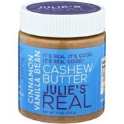 Julie's Real Cinnamon Vanilla Bean Cashew Butter, 9 Ounce -- 6 per case