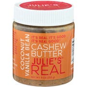 Julie's Real Coconut Vanilla Bean Cashew Butter, 9 Ounce -- 6 per case