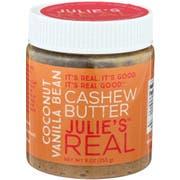 Julie's Real Coconut Vanilla Bean Cashew Butter, 9 Ounce -- 6 per case