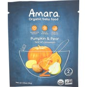 Amara Organic Pumpkin Pear Pot Baby Food, 0.5 Ounce -- 5 per case
