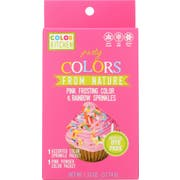 Colorkitchen Pink Frosting Color and Rainbow Sprinkle Set, 1.33 Ounce -- 6 per case