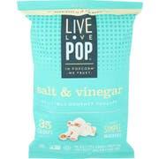 Live Love Pop Salt and Vinegar Popcorn, 4.4 Ounce -- 12 per case