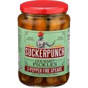 Suckerpunch 3 Pepper Fire Spear Pickles, 24 Ounce -- 6 per case