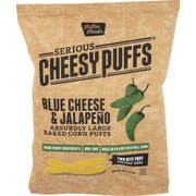 Serious Cheesy Puffs Blue Cheese Jalapeno Baked Corn Puffs, 3 Ounce -- 12 per case