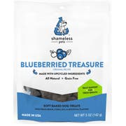 Shameless Pets Blueberried Treasure Dog Treat, 5 Ounce -- 6 per case