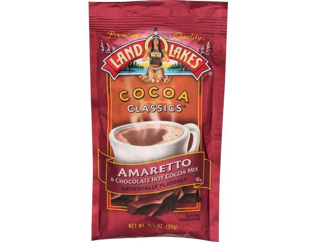 Land O Lakes Cocoa Classics Amaretto and Chocolate Hot Cocoa Mix, 1.25 Ounce -- 12 per case