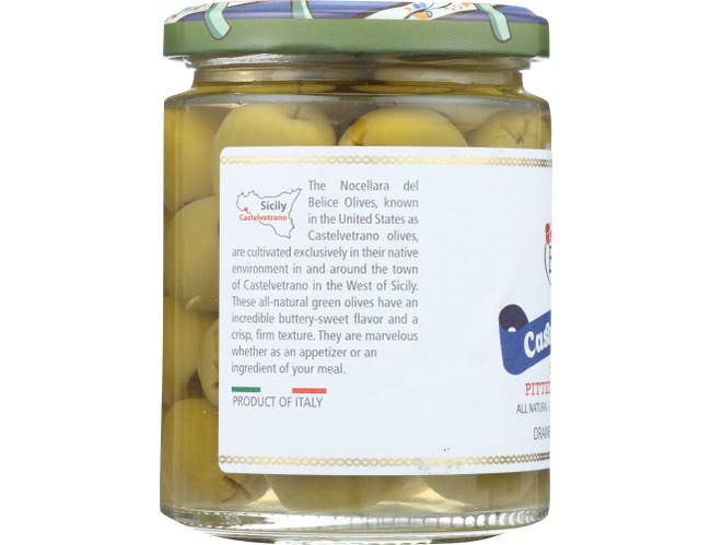 Bono Castelvetrano Sicilian Pitted Green Olives, 5.3 Ounce -- 6 per case