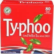 Typhoo Regular Black Tea, 80 tea bags per pack -- 6 per case