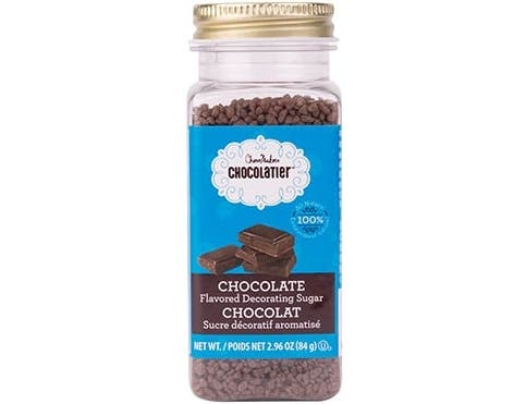 Chocomaker Chocolatier Chocolate Flavored Decorating Sugar, 2.96 Ounce -- 6 per case