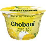 Chobani Non Fat Lemon Greek Yogurt, 5.3 Ounce -- 12 per case