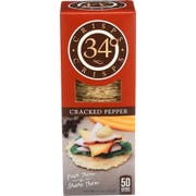 34 Degrees Cracked Pepper Crispbread, 4.5 Ounce -- 18 per case