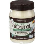Betterbody Organic Naturally Refined Coconut Oil, 15.5 Ounce -- 6 per case