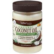 Betterbody Organic Naturally Refined Coconut Oil, 28 Ounce -- 6 per case
