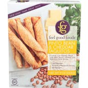 Feel Good Foods Pinto Bean and Cheddar Taquitos, 9 Ounce -- 9 per case