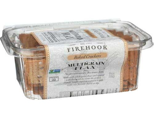 Firehook Multigrain Flax Mediterranean Baked Crackers, 5.5 Ounce Snack Box -- 8 per case