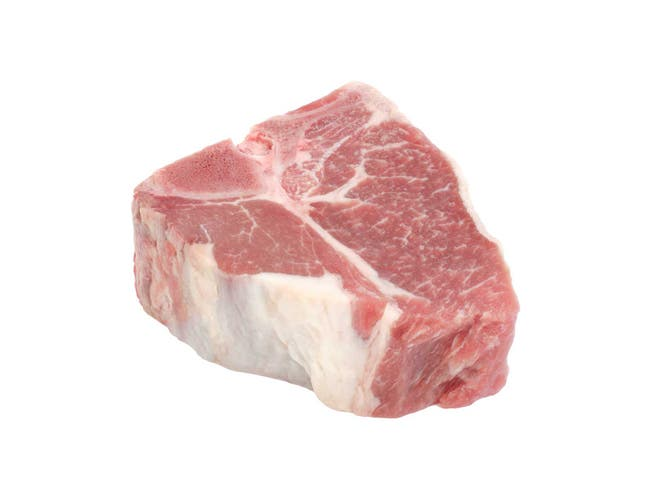 Strauss Chop Bone in Imported Australia Raw Lamb Loin, 4 Ounce -- 40 per case.