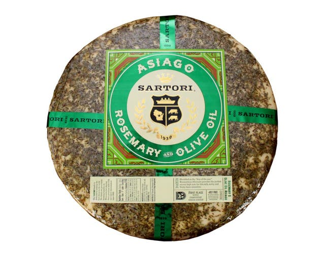 Sartori Reserve Rosemary and Olive Oil Asiago Cheese Wheel, 20 Pound -- 1 each.