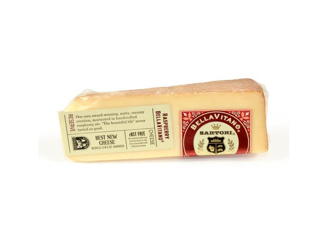 Sartori Reserve Raspberry BellaVitano Cheese Wedge, 5 Ounce -- 12 per case.