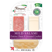 Fiorucci Foods Mild Salami with Fontina and Cracker, 2 Ounce -- 20 per case