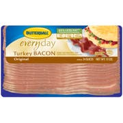 Butterball Original Everyday Turkey Bacon, 12 Ounce -- 24 per case.