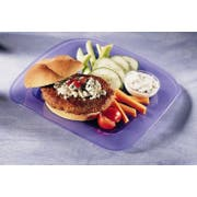 Butterball All Natural Round Seasoned Turkey Burger Patty, 6 Ounce -- 40 per case.