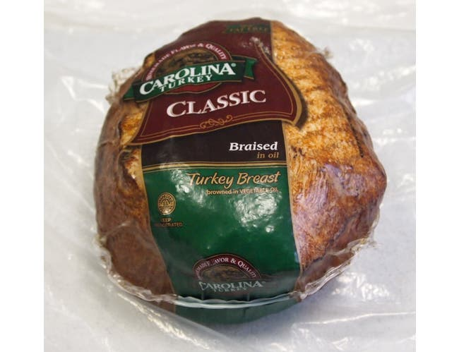 Carolina Hand Crafted Browned in Oil Skinless Turkey Breast, 5 Pound -- 2 per case.