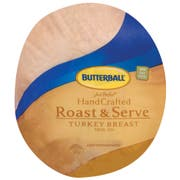 Butterball Just Perfect Hand Crafted Roast and Serve Skin On Turkey Breast, 9 Pound -- 2 per case.