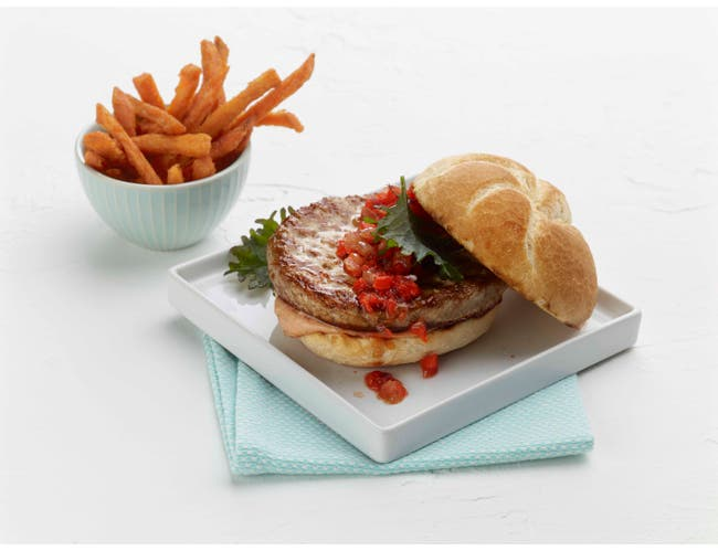 Butterball Savory White Turkey Burger, 5.33 Ounce -- 60 per case.