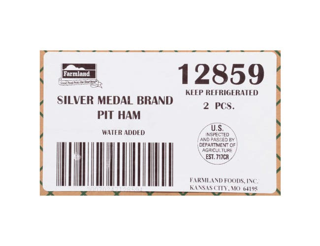 Farmland Silver Medal Water Added Original Smoked Pit Ham, 14/16 Piece -- 2 per case.