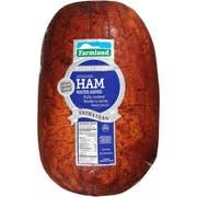 Farmland Silver Medal Water Added Boneless Smoked Round Ham, 10/15 Piece -- 2 per case.