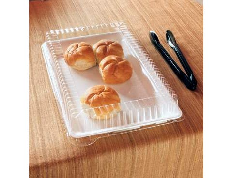 Party Tray Rectangular Clear Lid Only, 12 x 18 inch -- 40 per case.