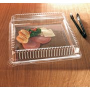 Party Tray Square Dome Lid Only, 18 x 18 inch -- 40 per case.