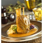 Bonewerks Culinarte Braised Classic Pork Shank Meat - Fully Cooked -- 12 per case.