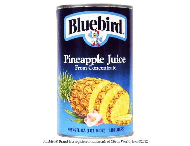 BlueBird Pineapple Juice, 46 ounce --  12 per Case