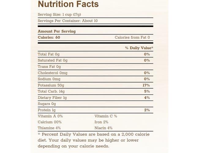 Arrowhead Mills Puffed Brown Rice Cereal, no salt - 6 Oz Bag -- 12 Per Case.