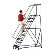 Ballymore Tough M-2000 Series Rolling Safety Ladder - 9 Step, 32 x 68 inch -- 1 each.