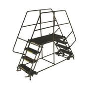 Ballymore Tough Welded Steel Double Entry Mobile Work Platform - 4 Step, 48 x 40 x 36 inch -- 1 each.