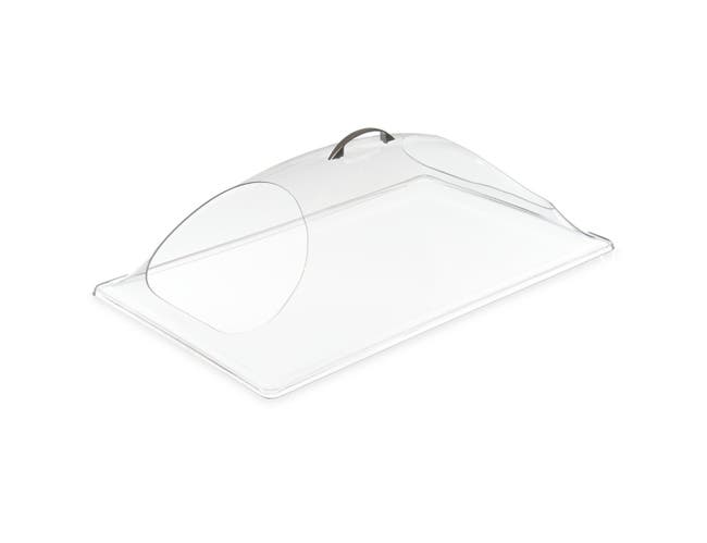 Carlisle Polycarbonate Clear Double End Cut Display Dome Cover Only, 12 x 20 inch -- 1 each.
