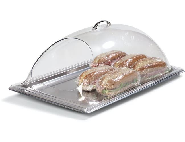 Carlisle Polycarbonate Clear End Cut Display Dome Cover Only, 12 x 10 inch -- 1 each.