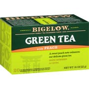 Bigelow Green Tea W/Peach, 20 Ct -- 6 Per Case.