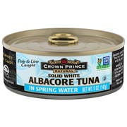 Crown Prince Natural Solid White Albacore Tuna in Spring Water, 5 Ounce -- 12 per case.