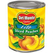 Del Monte Sliced Yellow Cling Peaches in Extra Light Syrup, 29 Ounce Can -- 6 per case.